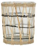 Lygte t/fyrfadslys m/bambusflet