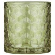 Lygte t/fyrfadslys grønt glas