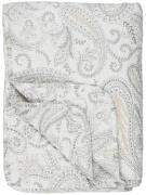Quilt hvid m/beige paisley