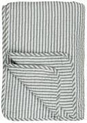 Quilt hvid m/blågrå striber
