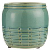 Skjuler krakeleret glasur m/mønster grøn