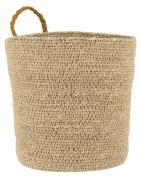 Kurv natur m/mustard strop cylinder