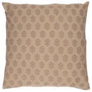 Pudebetræk milky brown baggrund blokmønster