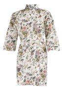 Kimono blomstret hvid baggrund S/M og L/XL