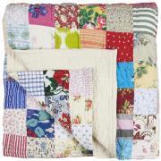 Quilt sengetæppe dobbelt jubilæum UNIKA patchwork