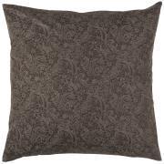 Pudebetræk mørkebrun baggrund grå paisleymønster