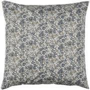 Pudebetræk hvid baggrund grå/brune blomster