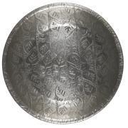 Bakke m/bladmønster antik sølvfinish