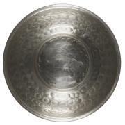 Skål m/hamret mønster antik sølvfinish