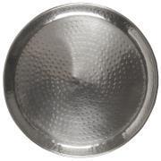 Bakke m/hamret mønster antik sølvfinish