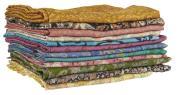 Tørklæde af gamle indiske sarier UNIKA assorteret