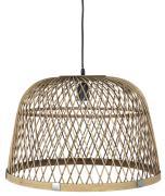 Hængelampe bambusskærm sort ledning L:145 cm