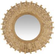 Spejl m/bambusflet
