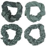 Tørklæde grøn kombination 4 ass