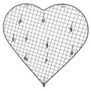 Hjerte m/10 clips tråd