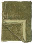 Quilt velour grøn m/print