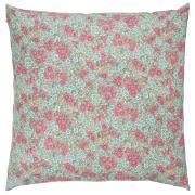 Pudebetræk m/pink og turkis blomster