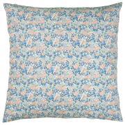 Pudebetræk m/blå, lilla og rosa blomster