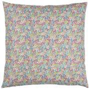 Pudebetræk m/grønne, rosa og turkis blomster