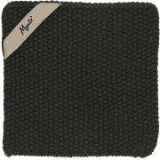 Grydelap Mynte Pure Black strikket