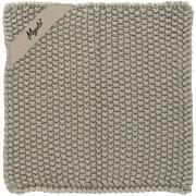 Grydelap Mynte sand strikket