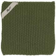 Grydelap Mynte mørkegrøn strikket