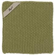 Grydelap Mynte herbal green strikket