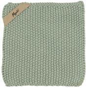 Grydelap Mynte støvgrøn strikket