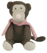 Krammedyr abe m/lyserødt tørklæde