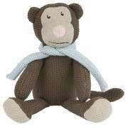 Krammedyr abe m/lyseblåt tørklæde