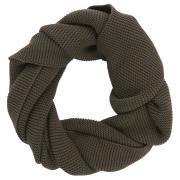 Tørklæde strikket brun