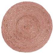 Dækkeserviet rund rosa jute