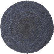 Dækkeserviet rund støvblå jute