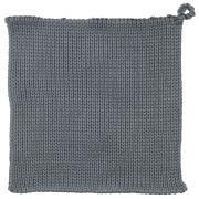 Grydelap strikket blå