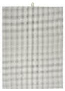 Viskestykke m/gråt firkantmønster