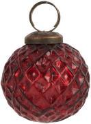 Julekugle harlekinmønster rød