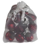 Pose m/10 julekugler mini rød 5 ass 2 stk af hver
