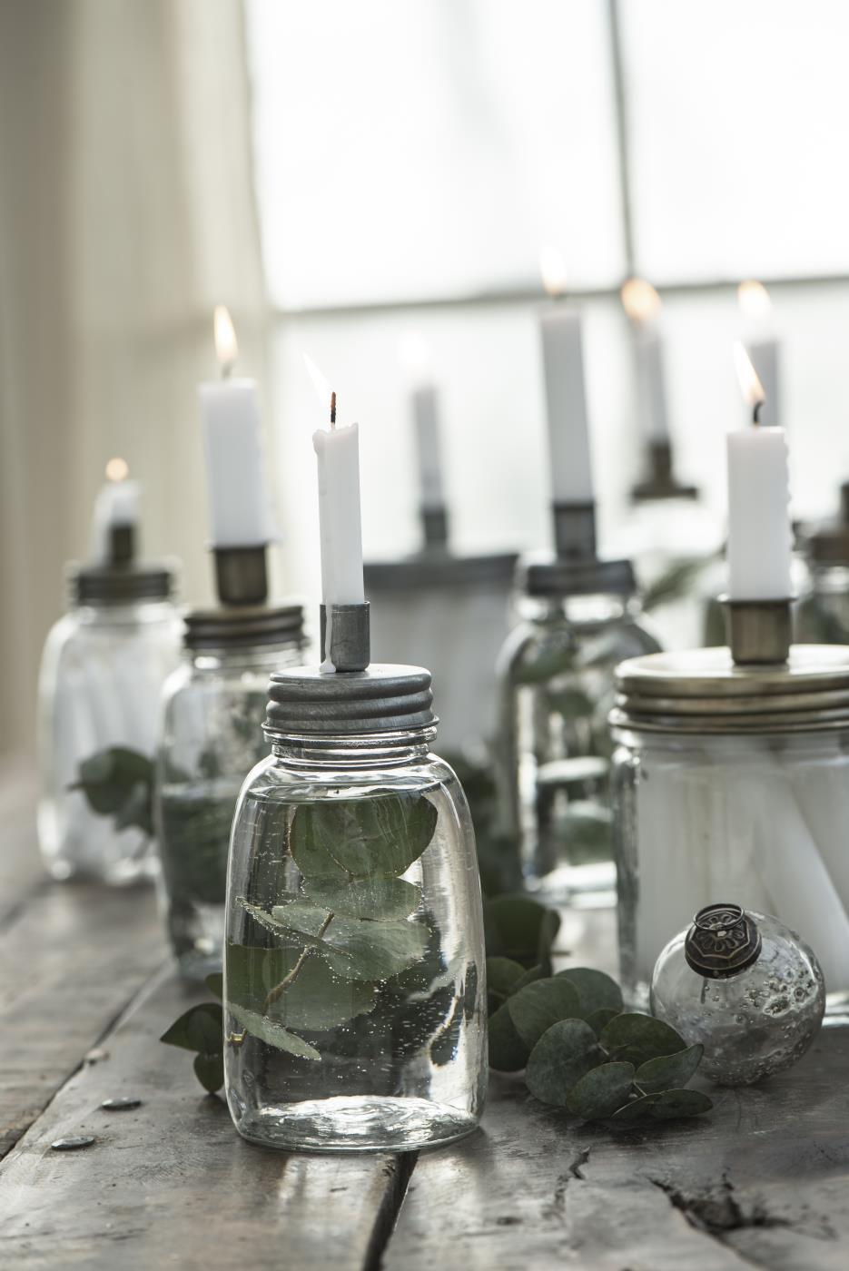 Kerzenhalter f/Stabkerze Metalldeckel niedrig - Ib Laursen