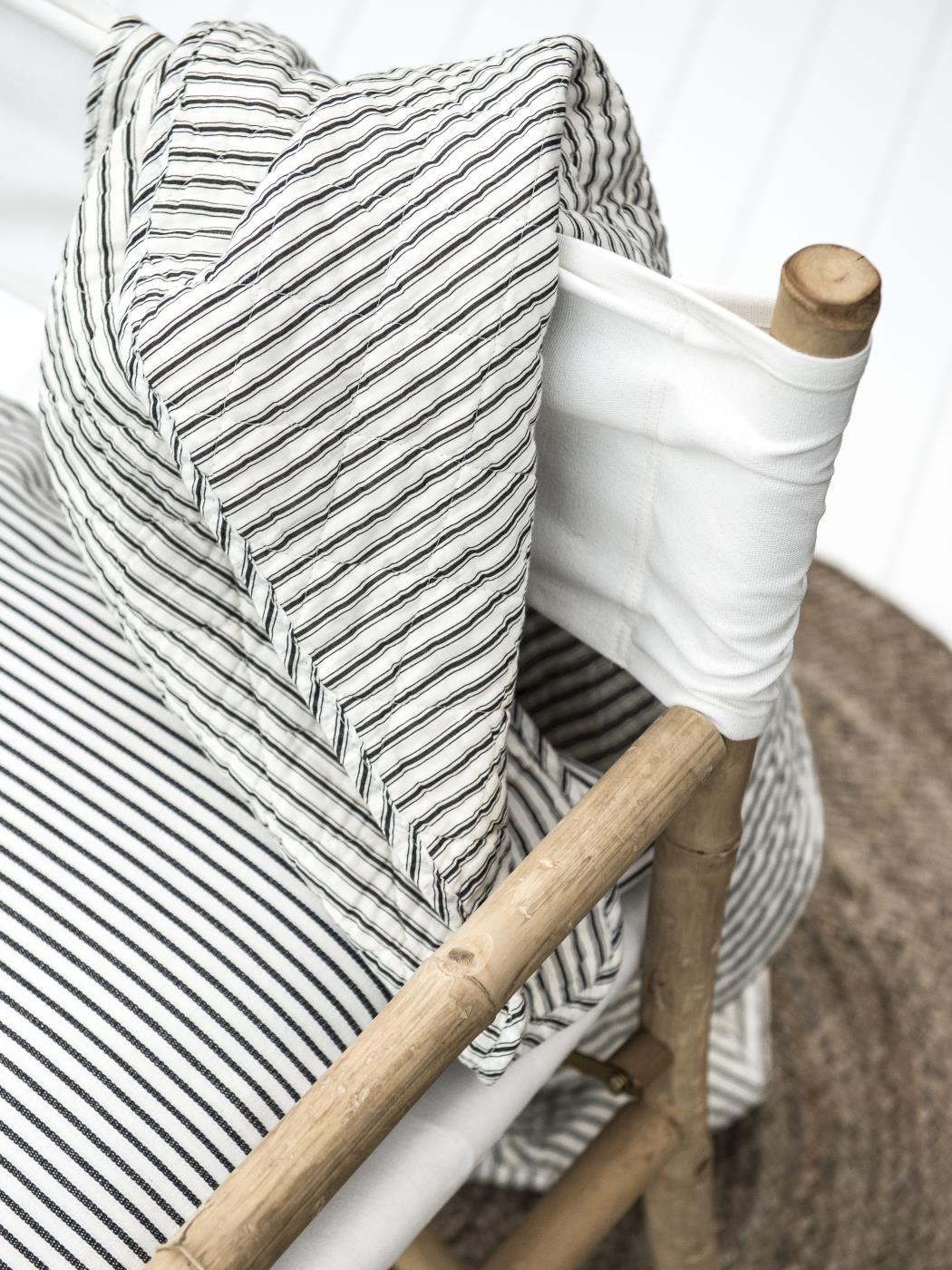 Quilt schwarz/weiss gestreift - Ib Laursen